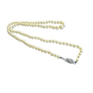 Jewelry - Cultured Pearl Antique Necklace with 14 Karat Lock